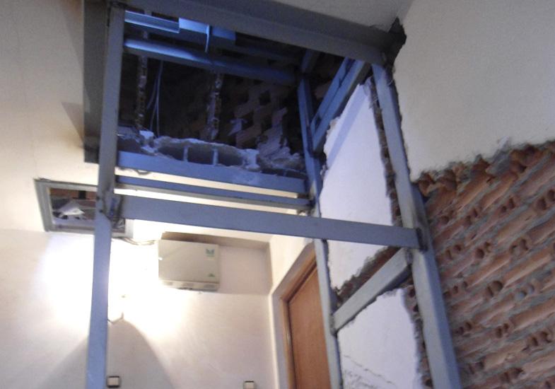 Preparación hueco ascensor