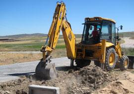 Construción edificios excavaciones