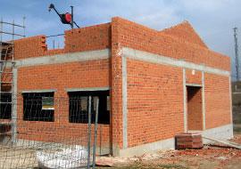 Construcción de edificios muros