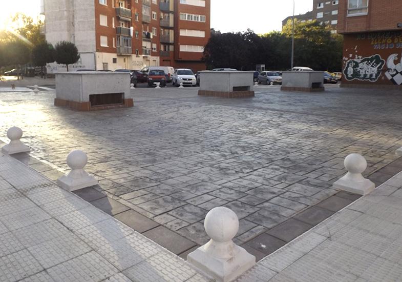 impermeabilización plaza